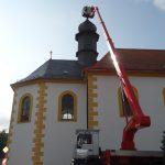 Überarbeitung der Turmzier nach Abschluss der Maßnahme