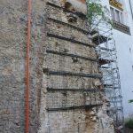gesicherte Wand nach Abbruch Pfeiler