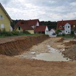 Aushubarbeiten für Wohnheim