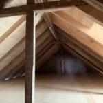 Blick in den Dachraum des ehem. Stalles