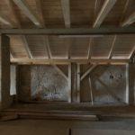 Verstärkte Dachkonstruktion der Scheune